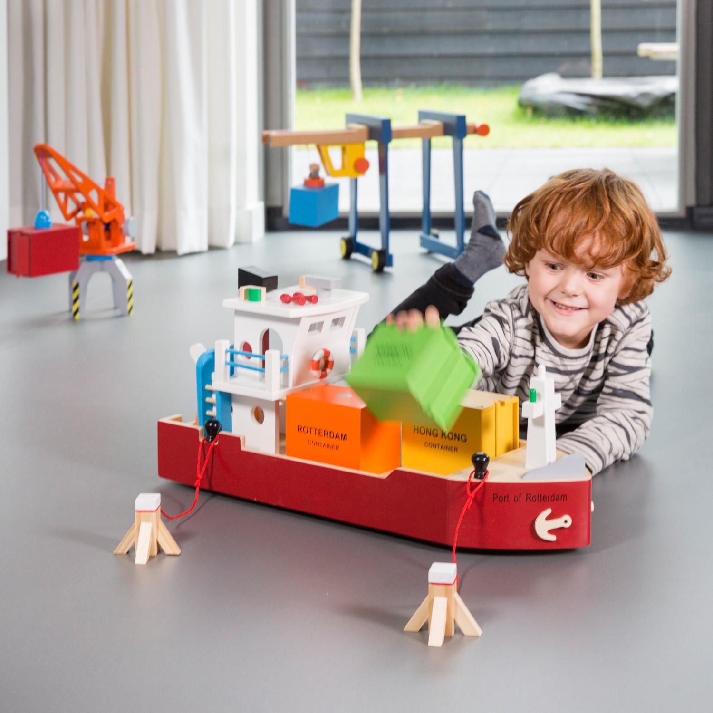 Детски играчки за момчета-дървен товарен кораб(4)-bellamie