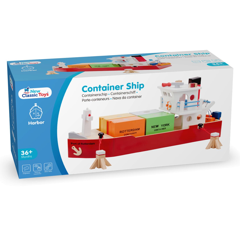 Детски играчки за момчета-дървен товарен кораб(2)-bellamie