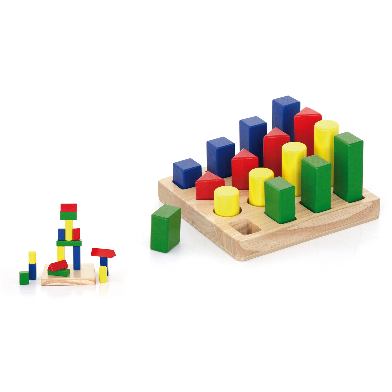 дидактични фигури - Дървени кубчета и сортери - Bellamie