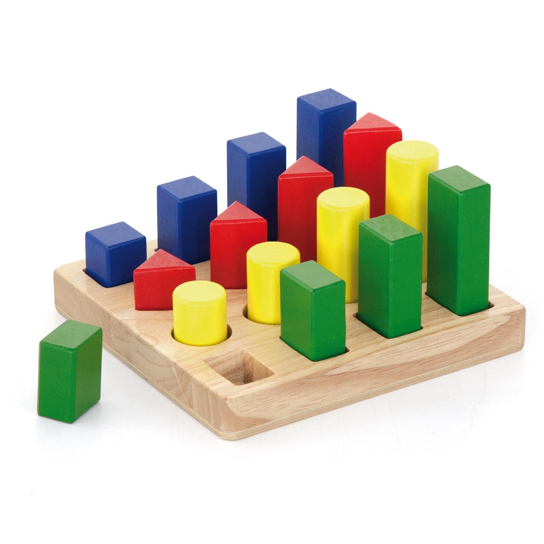 дидактични фигури - Дървени кубчета и сортери -Bellamie