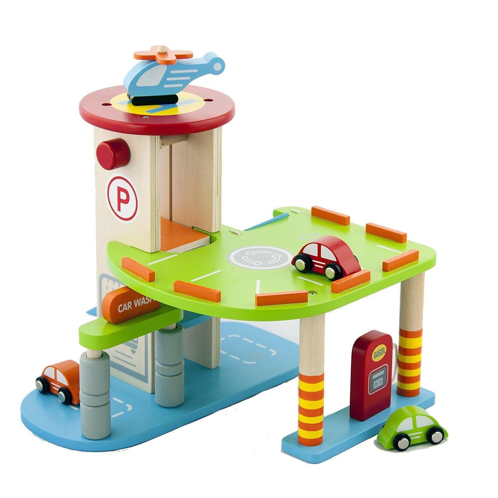 Дървен гараж за коли - детски играчки за момчета-bellamie