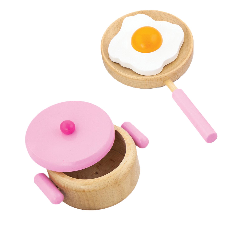 дървен готварски комплект в розово- аксесоар за детска дървена кухня(3)-bellamie
