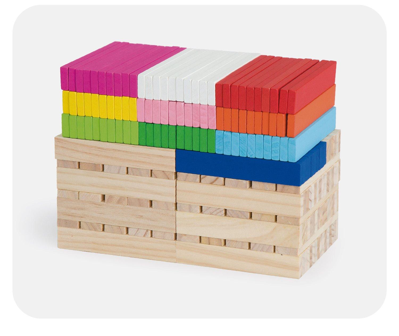 Дървен конструктор построй от 250 дървени блокчета от Vga toys-bellamie