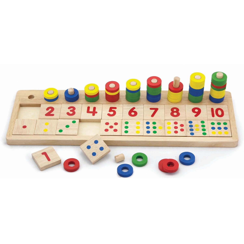 дървена играчка-да броим и учим числата-образователни играчки-bellamie