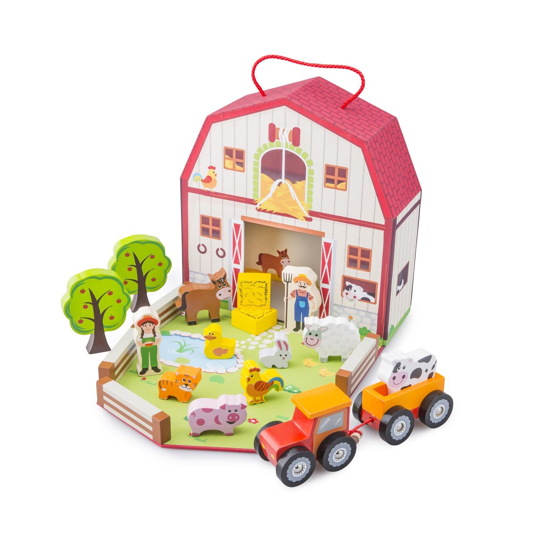 Дървена играчка фермата-детски играчки за момичета и момчета- bellamie
