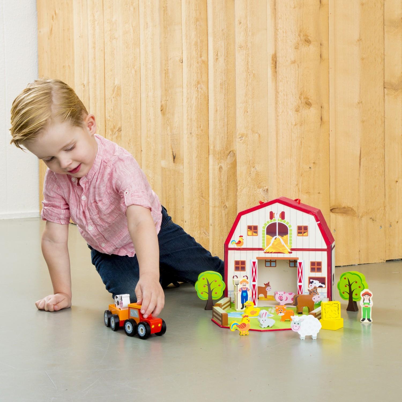 Дървена играчка фермата-детски играчки за момичета и момчета (1)-bellamie