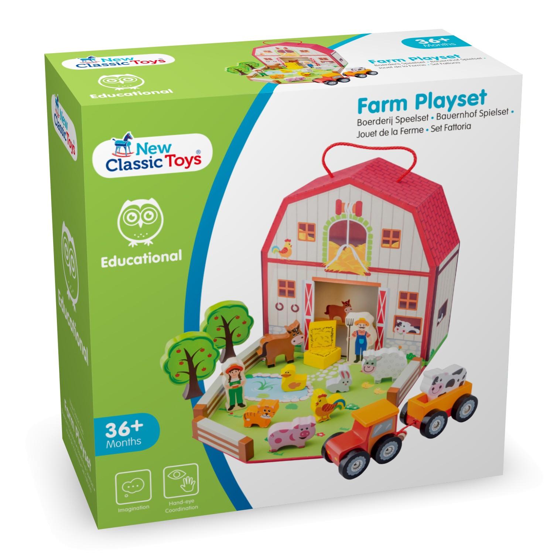 Дървена играчка фермата-детски играчки за момичета и момчета (2)-bellamie