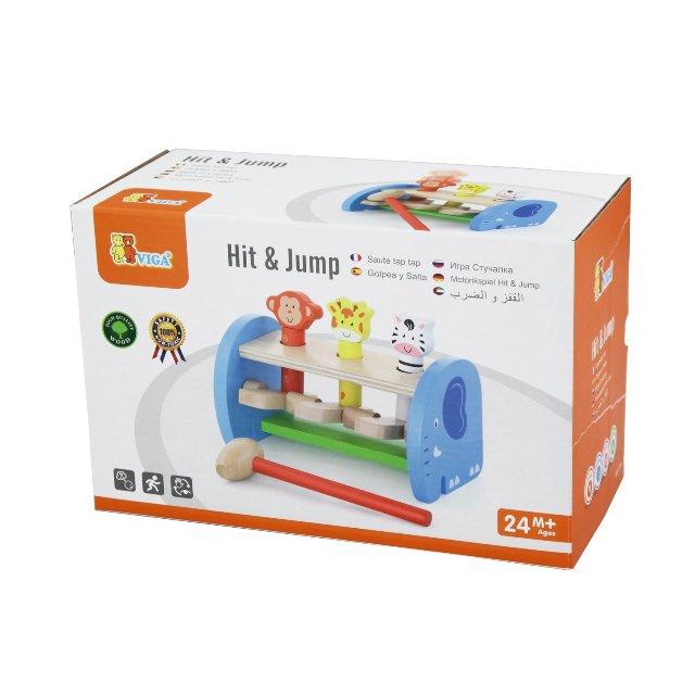 дървена играчка - Хоп и скок за координация- образователни играчки(1)-bellamie