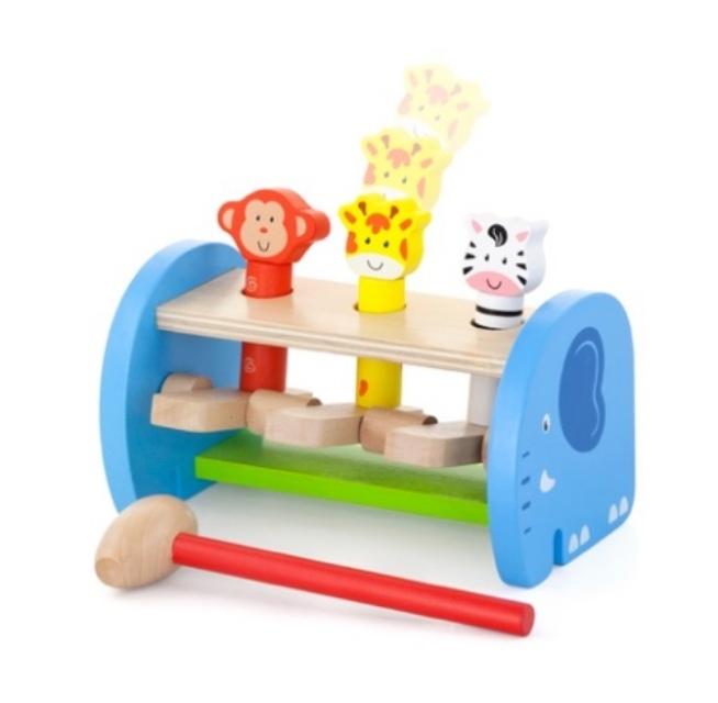дървена играчка - Хоп и скок за координация- образователни играчки-bellamie