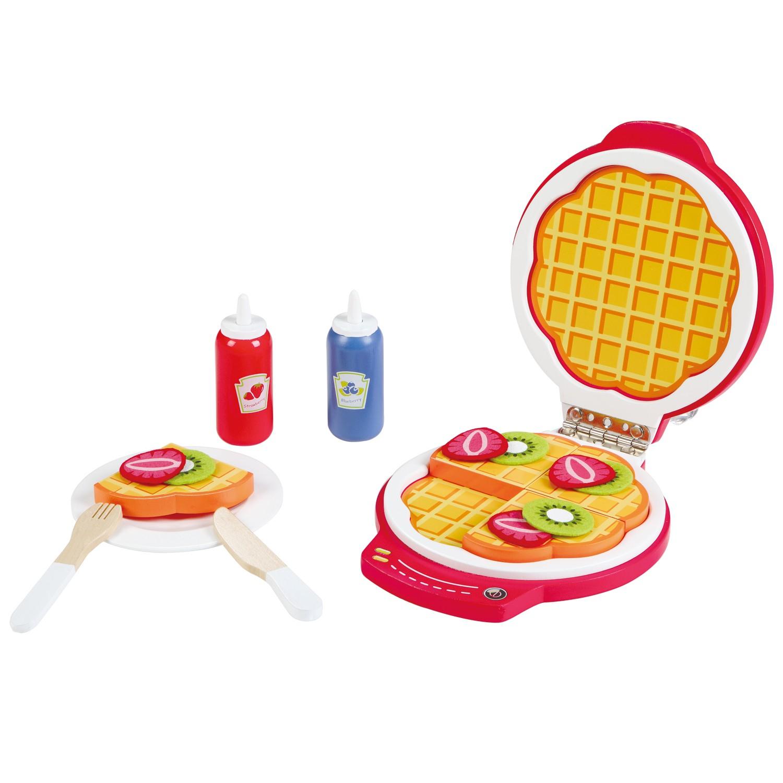 дървена играчка- комплект за приготвяне на гофрети- аксесоар за детска дървена кухня-bellamie