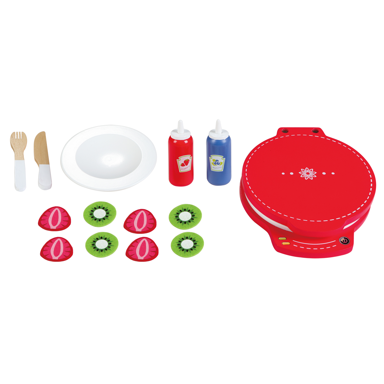 дървена играчка- комплект за приготвяне на гофрети- аксесоар за детска дървена кухня(1)-bellamie