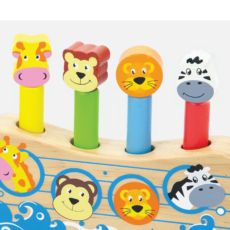 Дървена играчка - Подскачащите животни - бебешки играчки(1)-bellamie