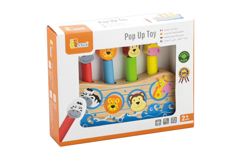 Дървена играчка - Подскачащите животни - бебешки играчки(2)-bellamie