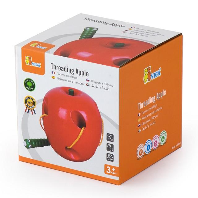 дървена играчка за нанизване - Ябълка- образователни играчки(1)-bellamie