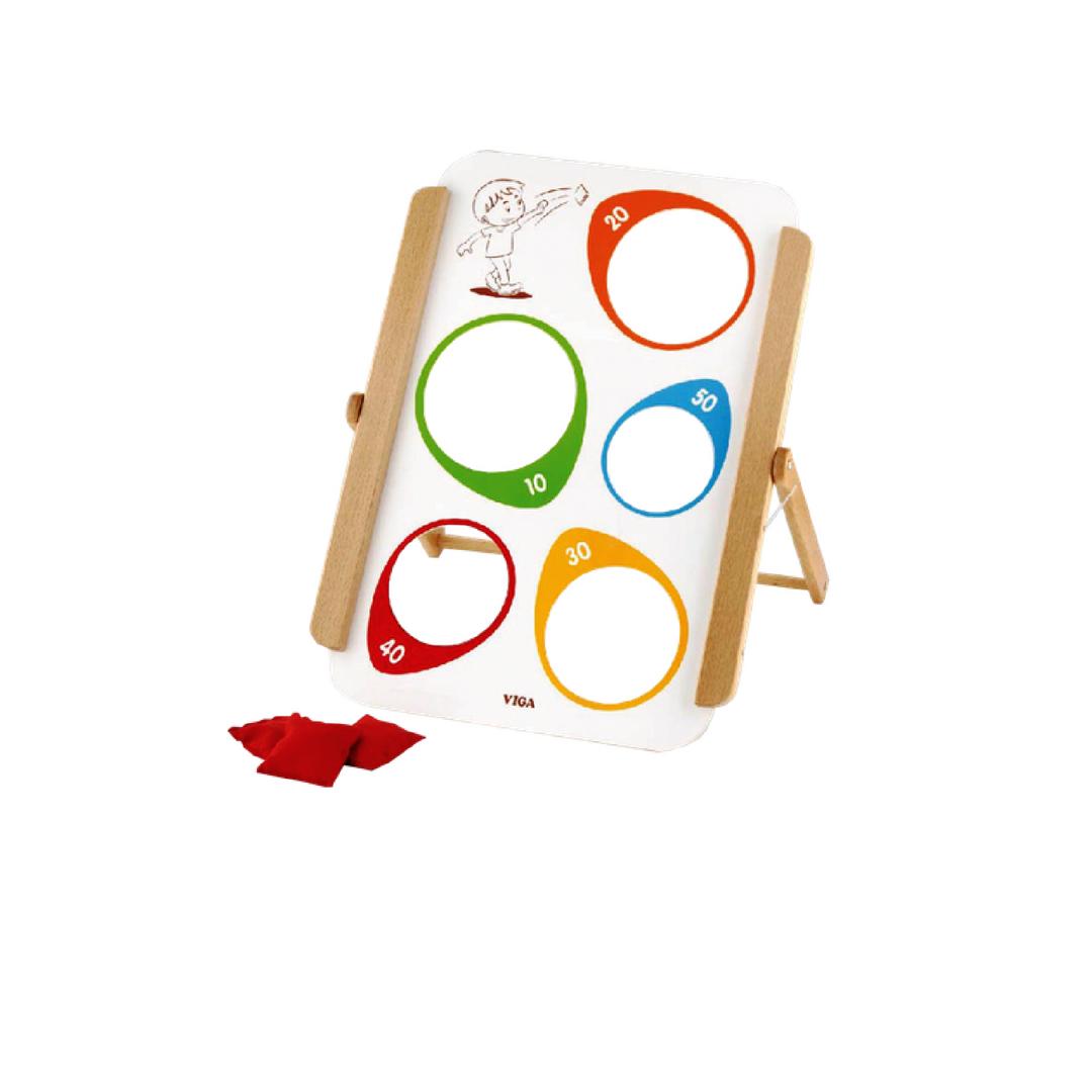 дървена играчка за координация с бобени торбички-образователни играчки (2)-bellamie