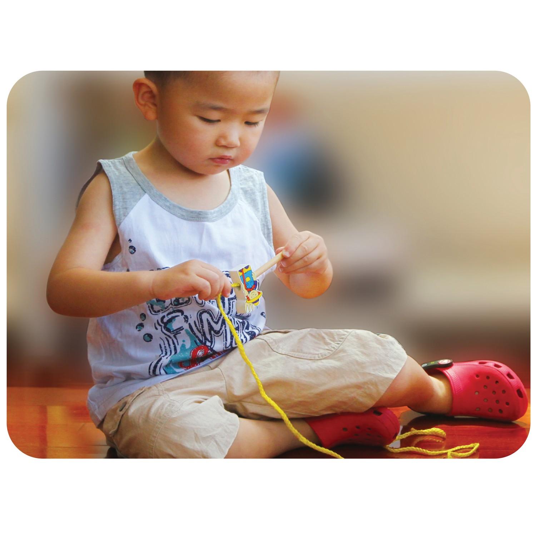 Дървена играчка за нанизване - Ферма - образователни играчки(1)-bellamie
