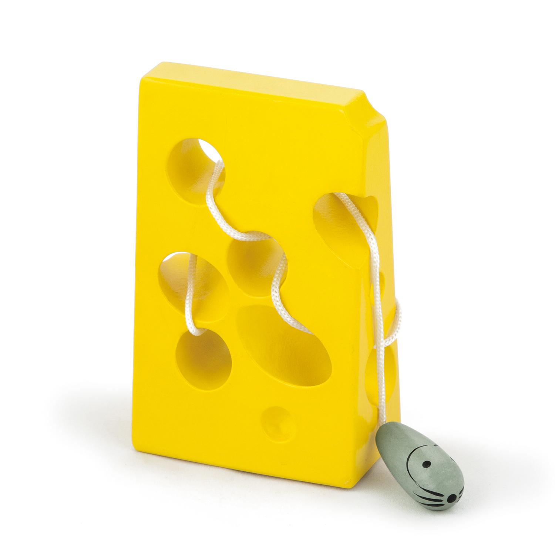 дървена играчка за нанизване - Сиренце- образователни играчки -bellamie