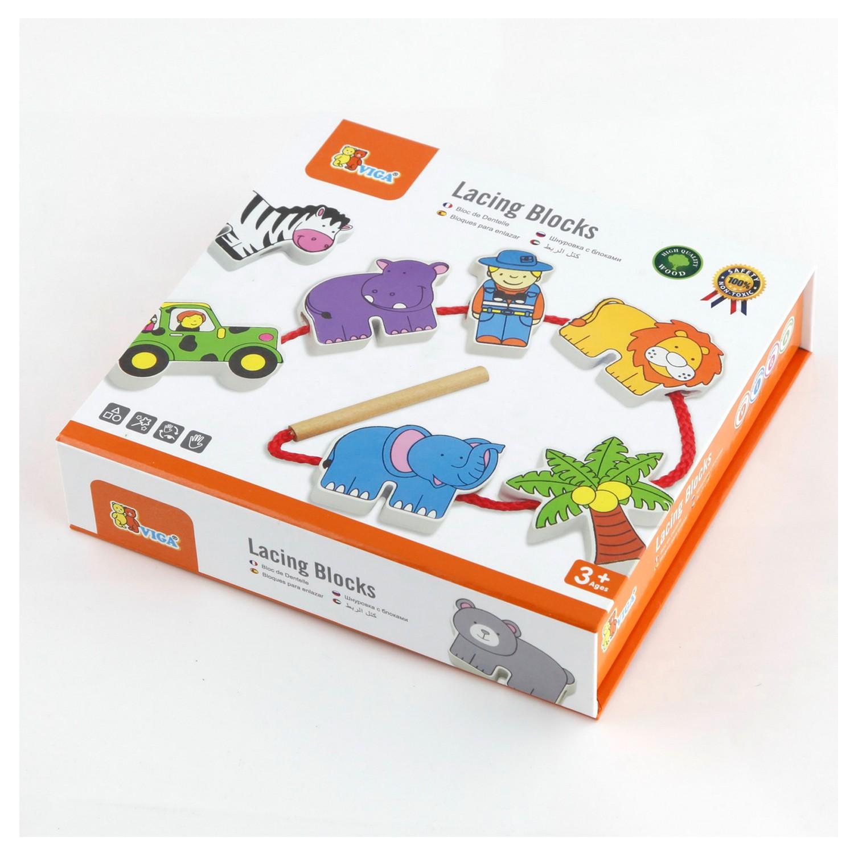 Дървенa играчка за нанизване - Зоопарк - образователни играчки(2)-bellamie
