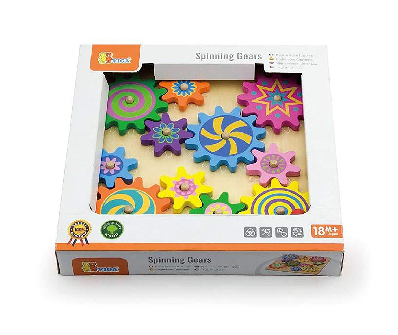 дървена играчка - зъбчати колела- образователни играчки(2)-bellamie