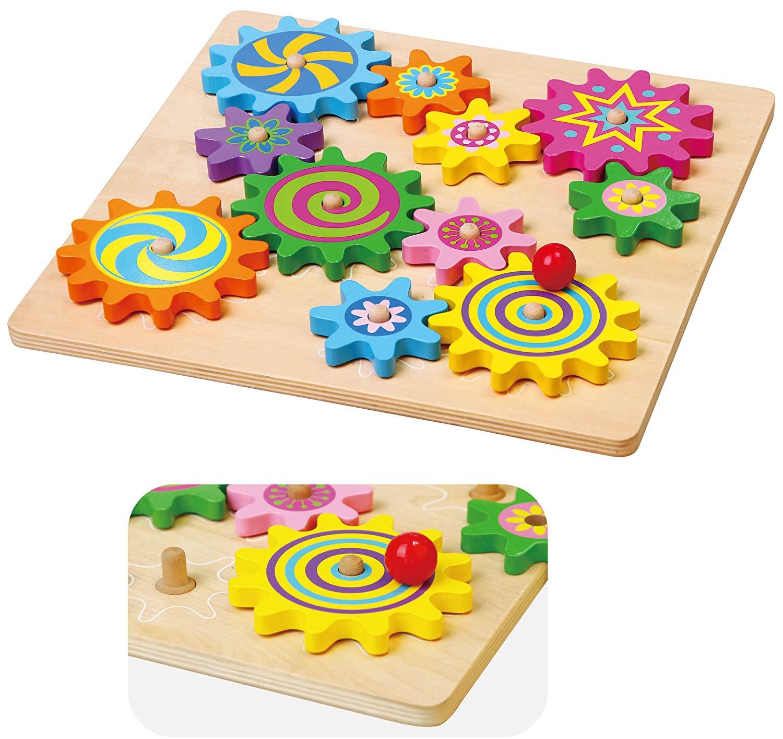 дървена играчка - зъбчати колела- образователни играчки(1)-bellamie