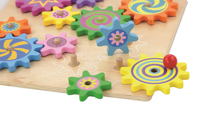 дървена играчка - зъбчати колела- образователни играчки(3)-bellamie