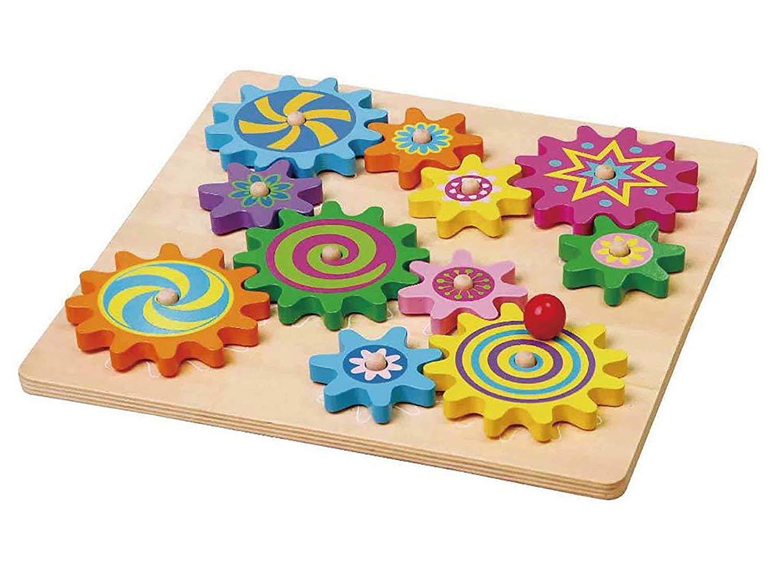 дървена играчка - зъбчати колела- образователни играчки-bellamie