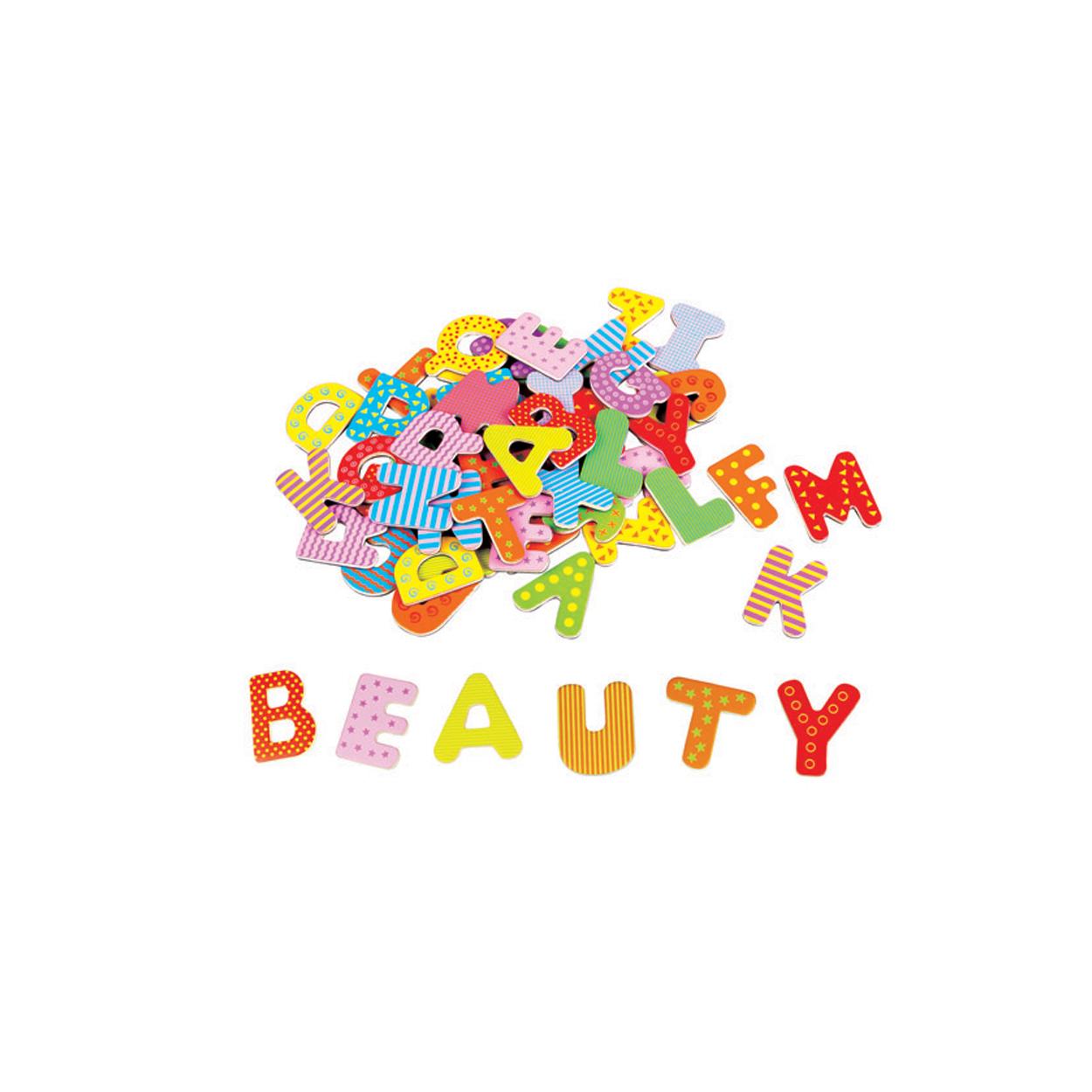 дървена магнитна азбука на английски език-образователни играчки(1)-bellamie