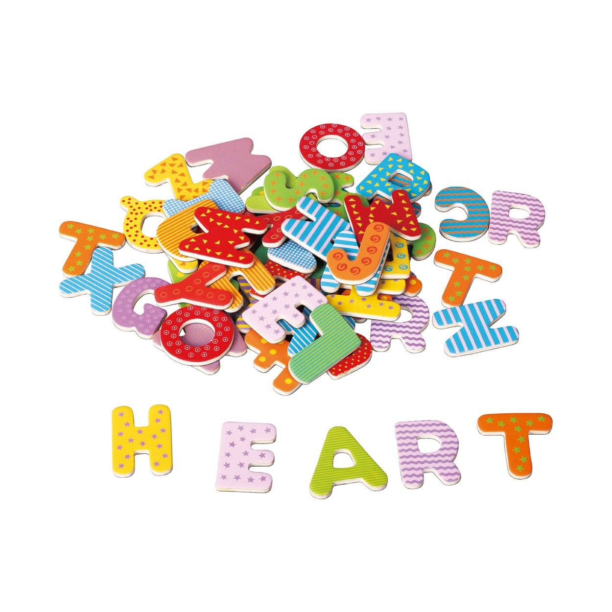 дървена магнитна азбука на английски език-образователни играчки(2)-bellamie