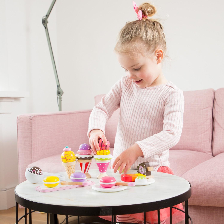 дървени играчки-детски-играчки за момичета-сладоледено парти-детска дървена кухня(1)-bellamie