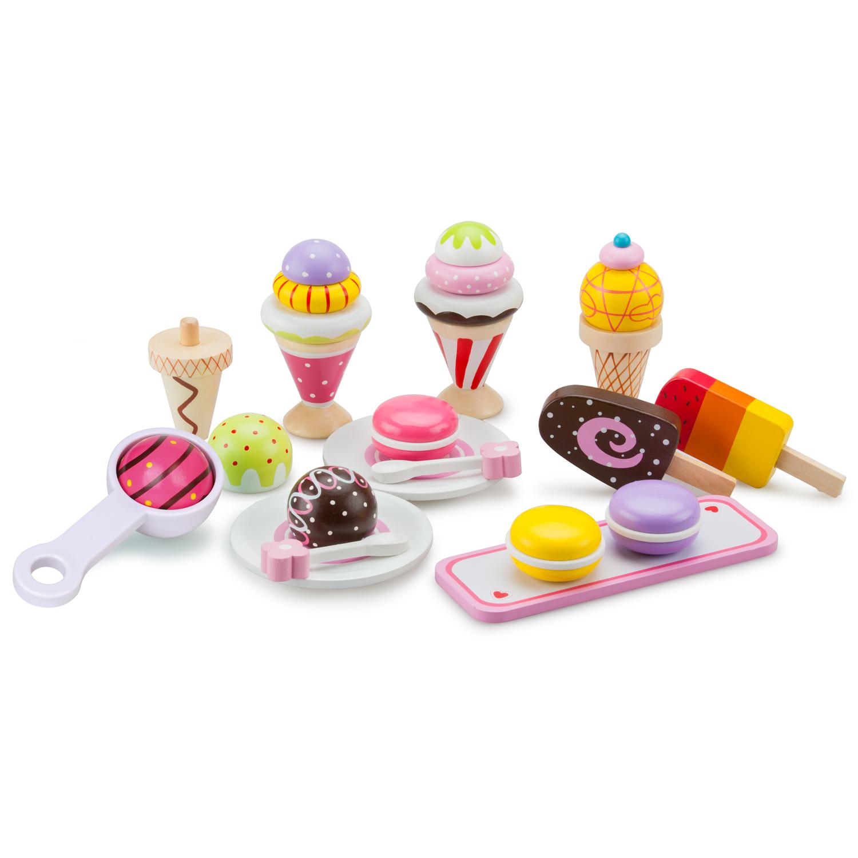 дървени играчки-детски-играчки за момичета-сладоледено парти-детска дървена кухня-bellamie