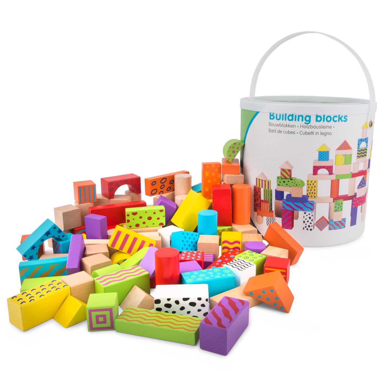 цветни дървени конструктори от 100 части-детски играчки за момчета и момичета-bellamie
