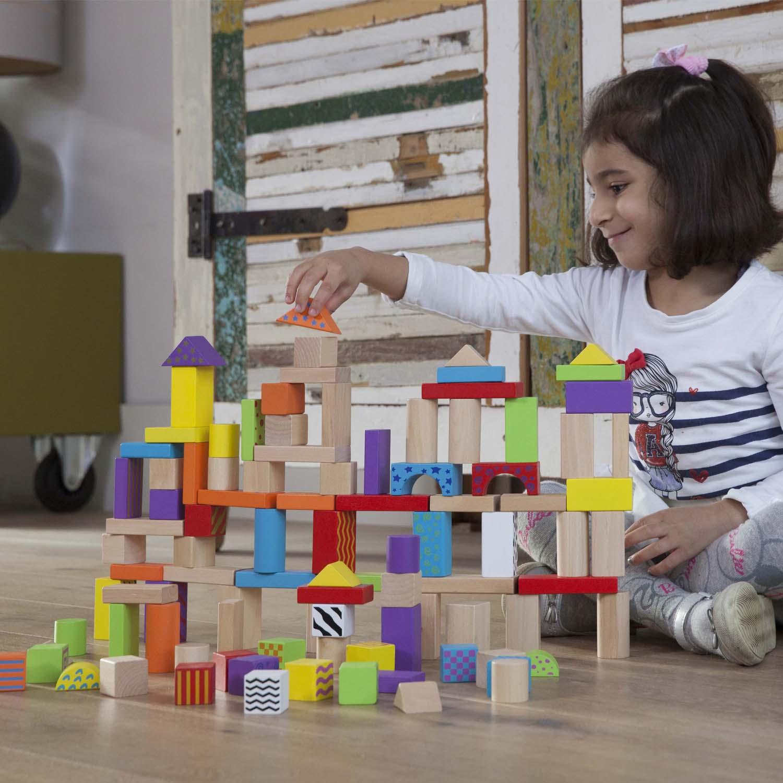 цветни дървени конструктори от 100 части-детски играчки за момчета и момичета (2)- bellamie