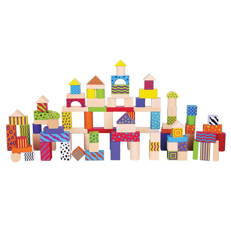 дървени конструктори от 100 части- детски играчки за момчета-bellamie