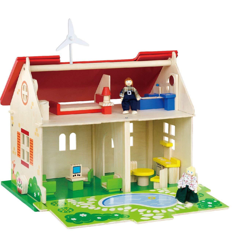еко дървена къща за кукли-детски играчки за момичета-bellamie
