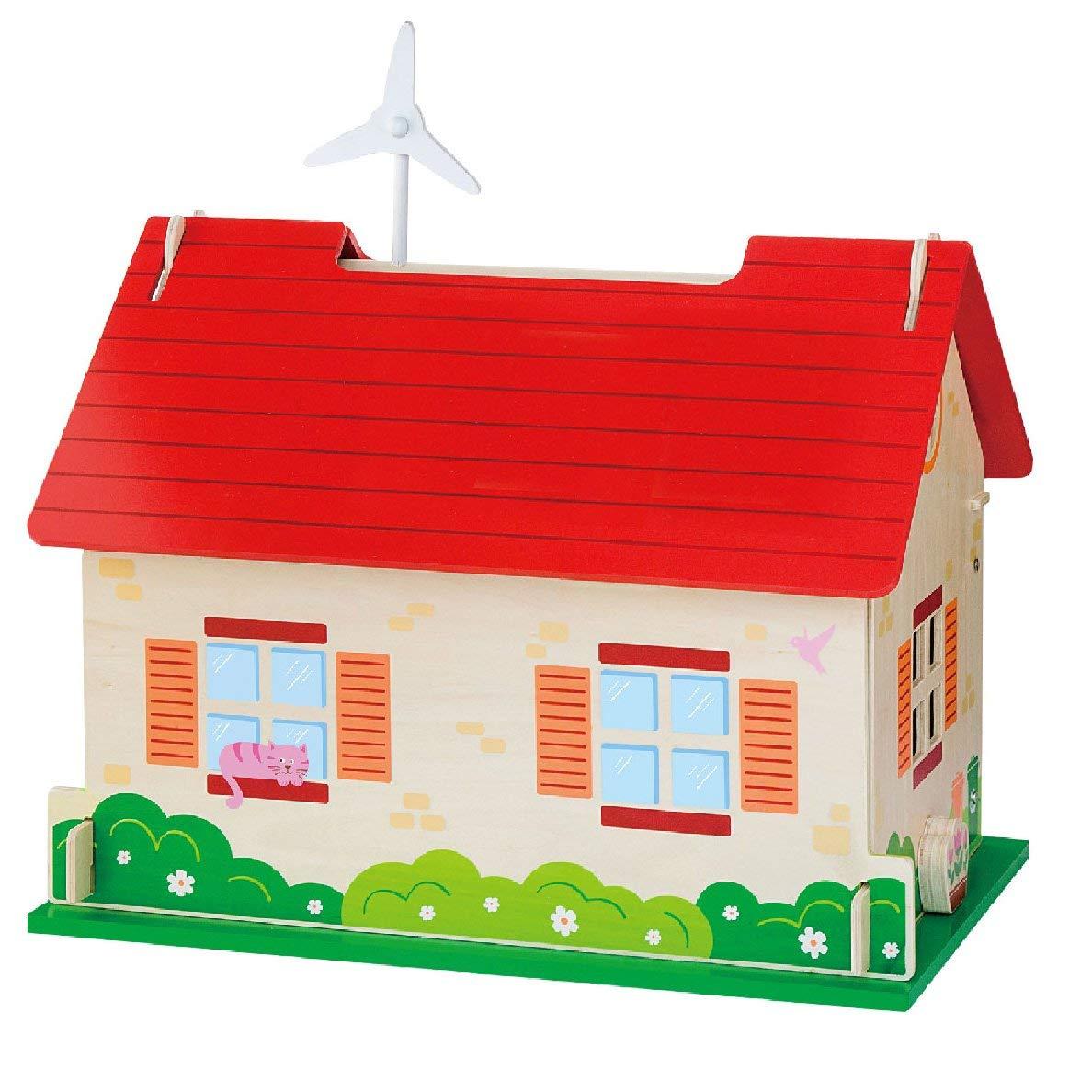 еко дървена къща за кукли-детски играчки за момичета(1)-bellamie