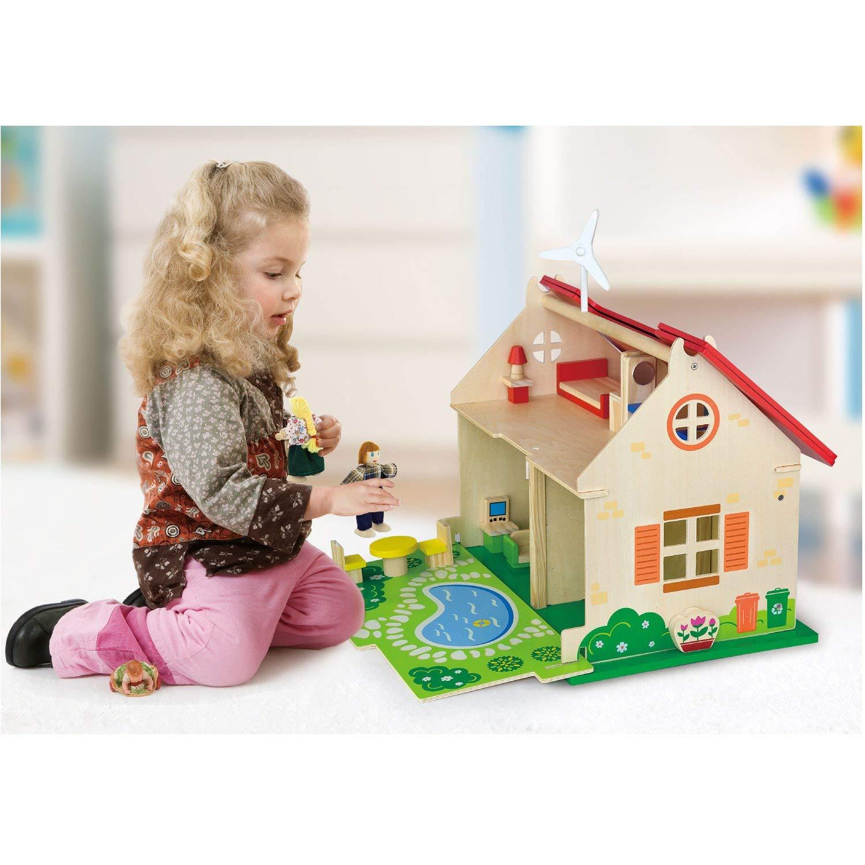 еко дървена къща за кукли-детски играчки за момичета(2)-bellamie