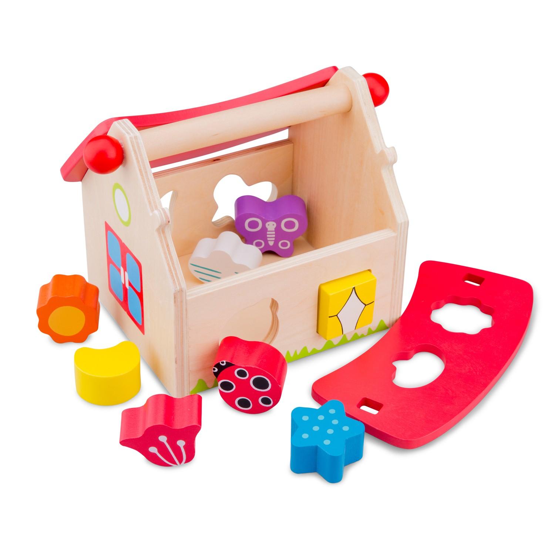 къща за сортиране на форми-дървени кубчета и сортери-дървени играчки(1)-bellamie