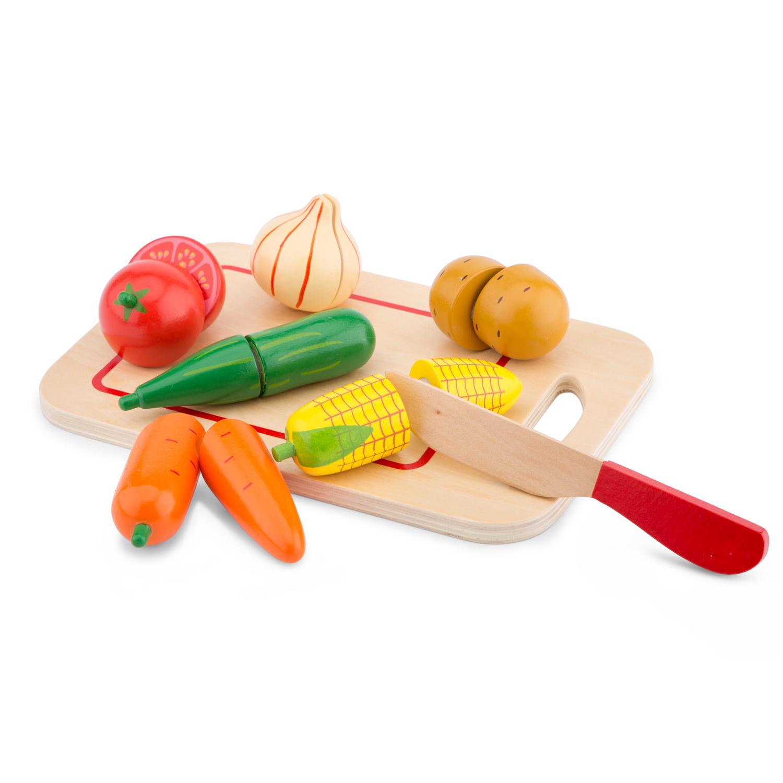 Зеленчуци с дъска за рязане-аксесоар за детска дървена кухня-дървени играчки(1)-bellamie