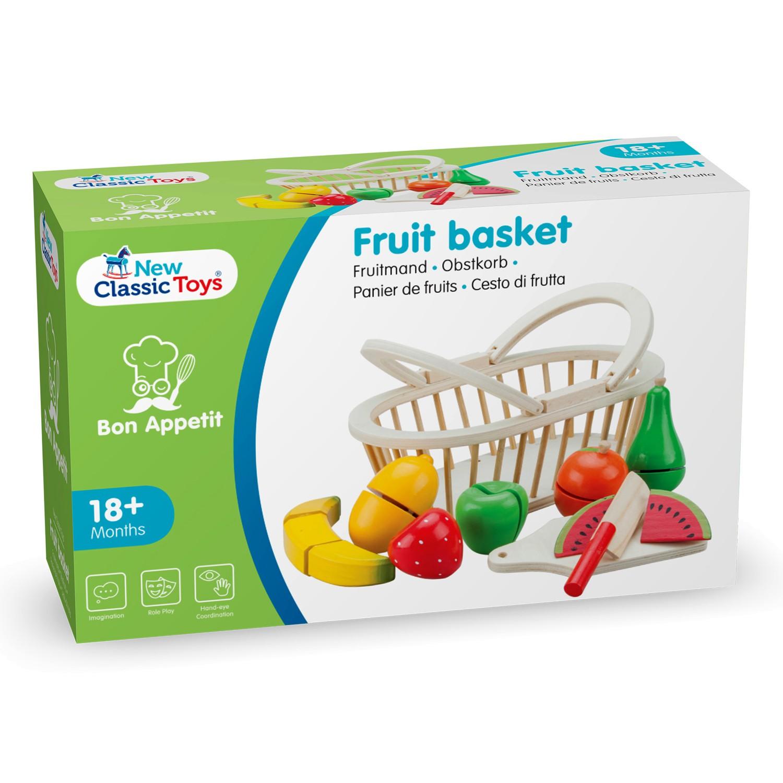 Дървени играчки - Кошница с плодове за рязане- аксесоар за детска дървена кухня-(3)-Bellamie