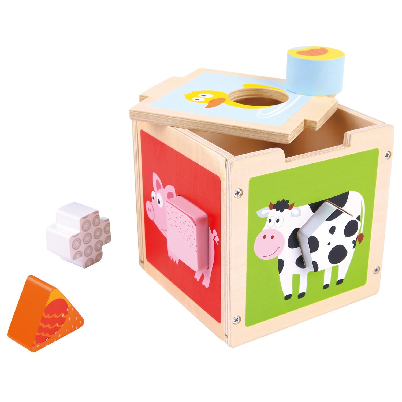 куб за сортиране на форми-дървени кубчета и сортери-дървена играчка(1)-bellamie