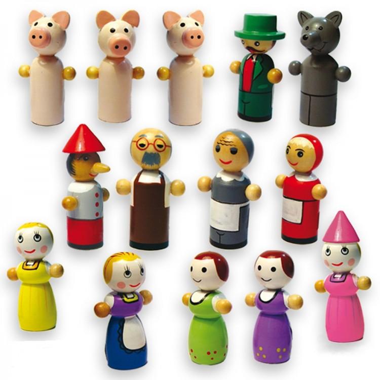 Дървен магнитен театър-образователни играчки-ролеви игри(1)-bellamie