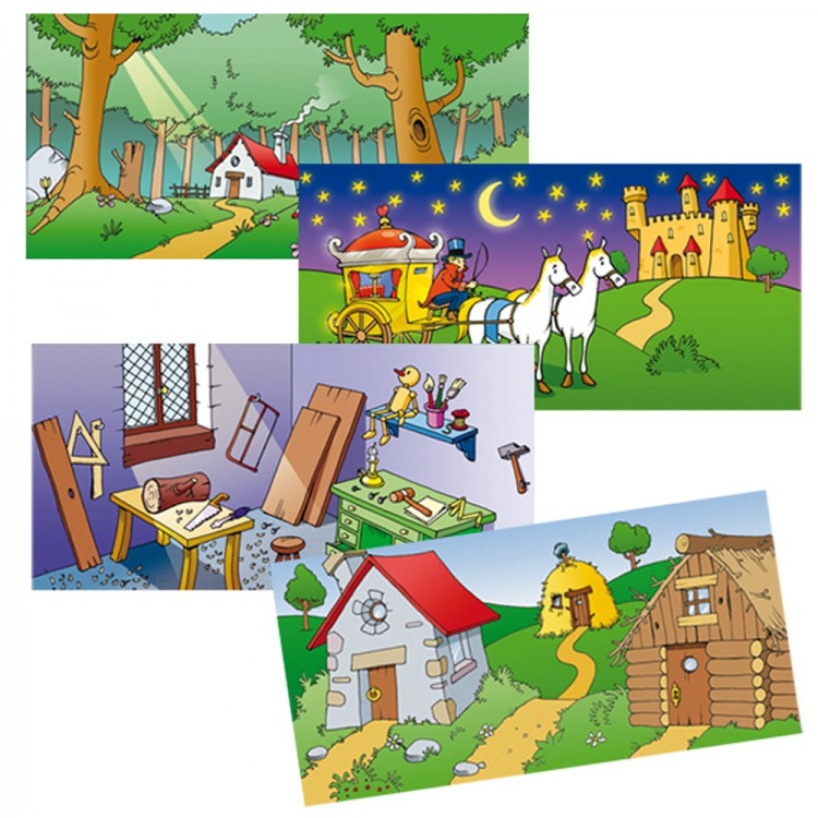 Дървен магнитен театър-образователни играчки-ролеви игри(2)-bellamie