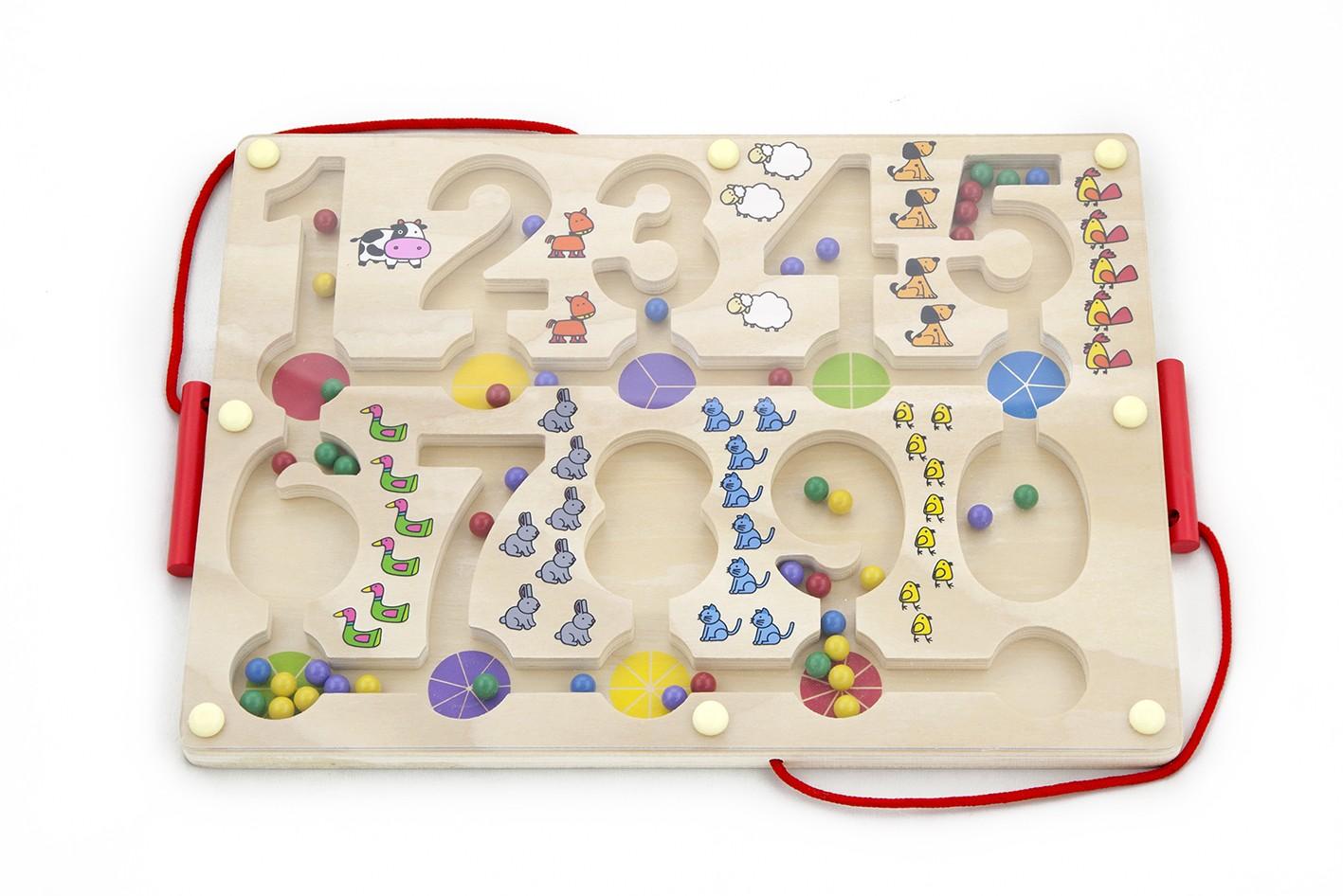 магнитна дъска с числа-дървена играчка-образователни играчки-bellamie