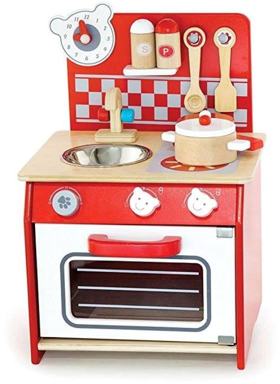 малка червена детска дървена кухня-дървена играчка(2)-bellamie