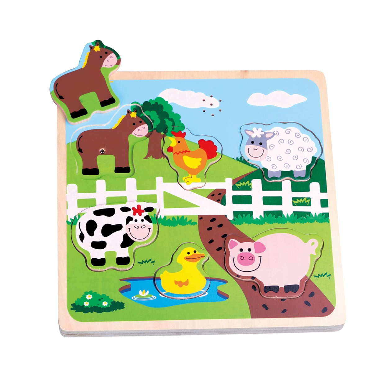 музикален детски пъзел Фермата-дървени играчки(1)-bellamie