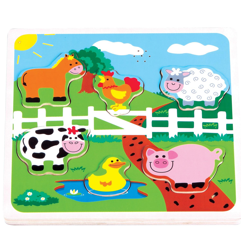 музикален детски пъзел Фермата-дървени играчки(2)-bellamie