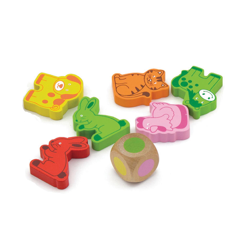 Парти игра Животните- настолни състезателни игри от Viga toys-bellamiestore