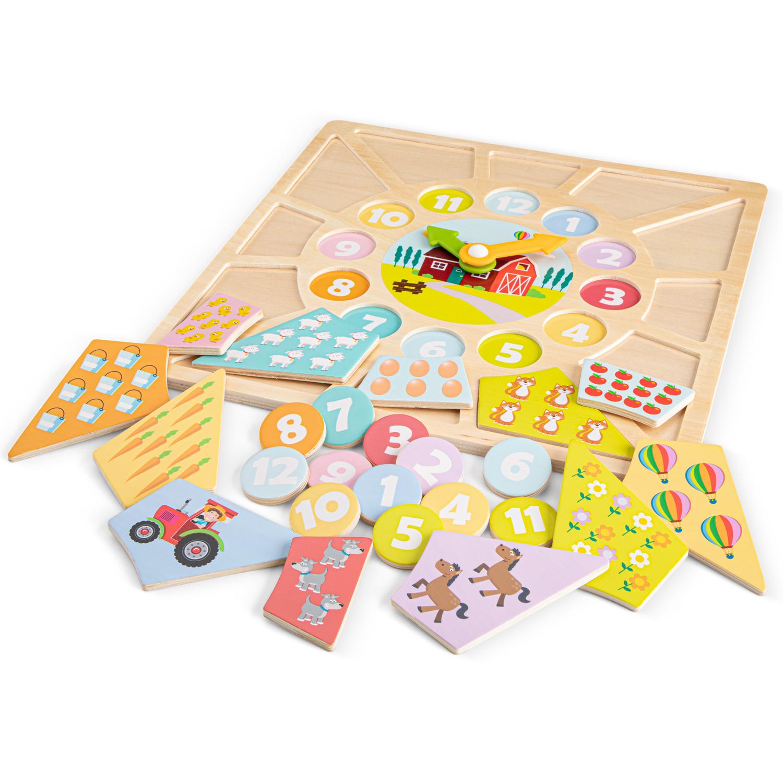 Цветен детски пъзел и часовник от New classic toys-bellamiestore