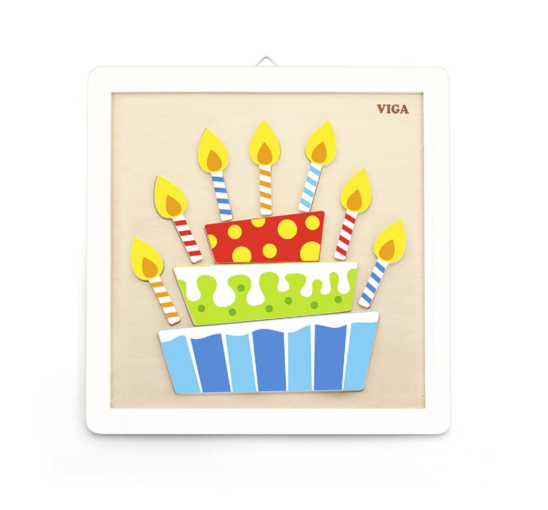 Творчески комплект за рисуване с бои Торта от Viga toys-bellamiestore