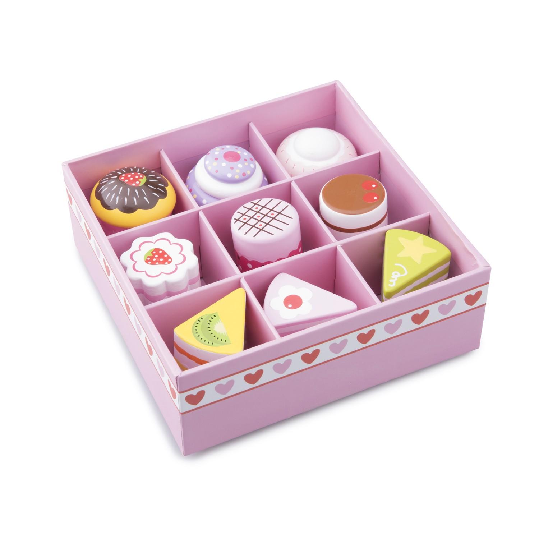 дървени играчки-детски играчки за момичета-комплект със сладкиши-детска дървена кухня-bellamie